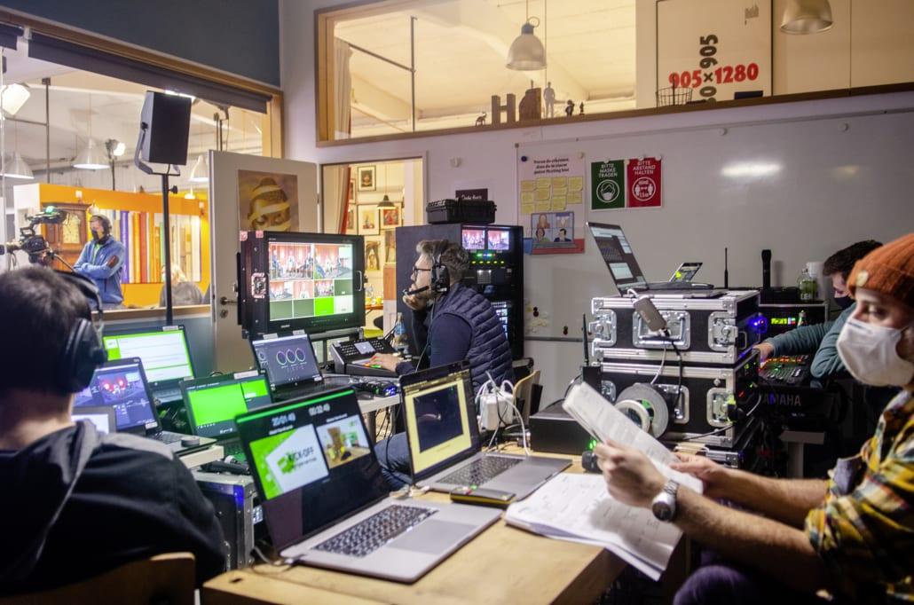 Technikraum beim Streaming Event